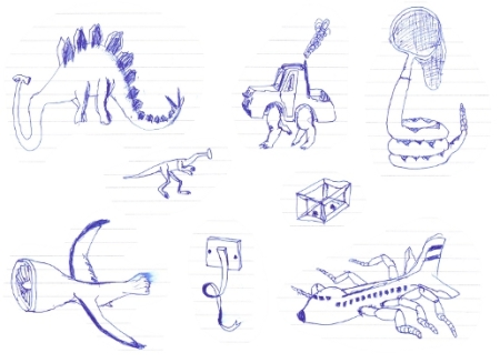 I can only really draw dinosaurs...
